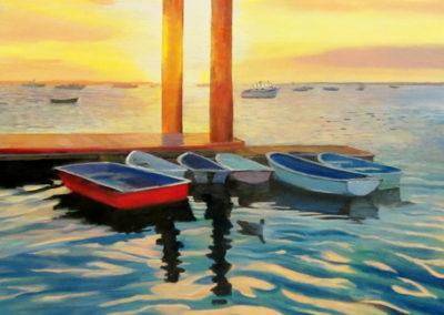 Rowboats at the Pier